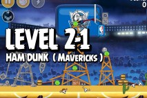 Mighty Eagle Walkthrough Ham Dunk Level 2-1
