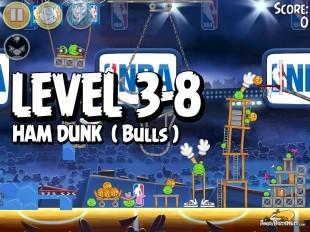 Angry Birds Seasons Ham Dunk Level 3-8 Walkthrough