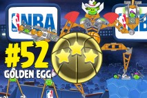 Angry Birds Seasons Ham Dunk Golden Egg #52 Walkthrough