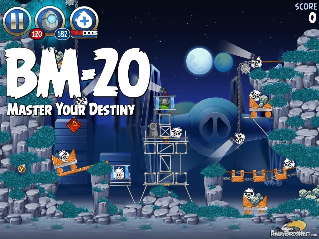 Angry birds star wars 2 master your destiny level bm 20 walkthrough