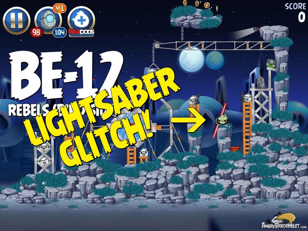 Angry Birds Star Wars 2 Rebels Level Be 12 Lightsaber