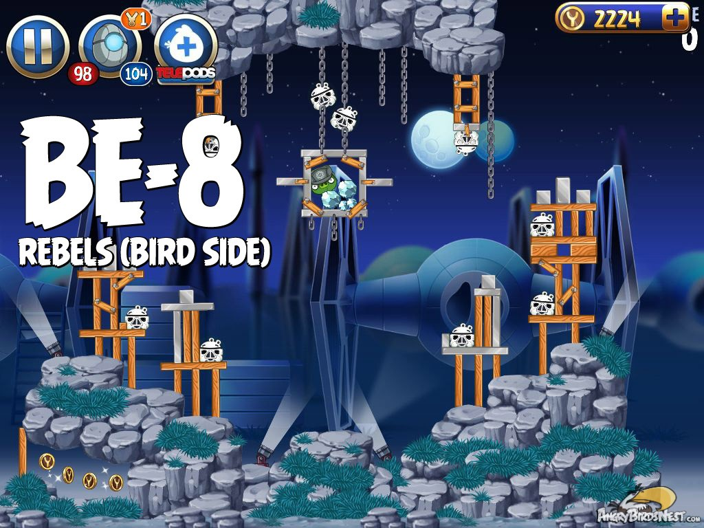 Angry birds star wars 2 rebels level be 8 walkthrough - Angry birds star wars 8 ...