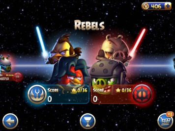 Angry Birds Star Wars 2 Rebels Episode Selection Screen