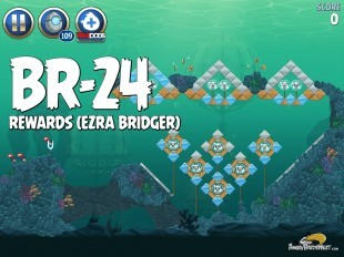 Angry Birds Star Wars 2 Rewards Chapter Level BR-24 Ezra Bridger Walkthrough
