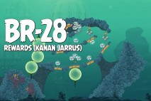 Angry Birds Star Wars 2 Rewards Chapter Level BR-28 Kanan Jarrus Walkthrough