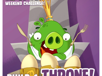 Bad Piggies Weekend Challenge Build a Throne 11 Oct 2014