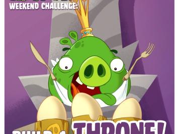 Bad Piggies Weekend Challenge Build a Throne 11 Oct 2014