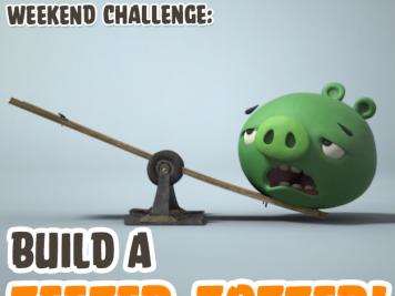 Bad Piggies Teeter Totter Weekend Challenge 18 Oct 2014