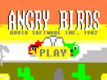 Angry Birds 8-bit 80s Style Featured Image