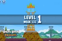 Angry Birds Friends Tournament Level 1 Week 132 Walkthrough | November 24th 2014