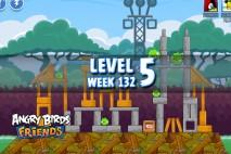 Angry Birds Friends Tournament Level 5 Week 132 Walkthrough | November 24th 2014