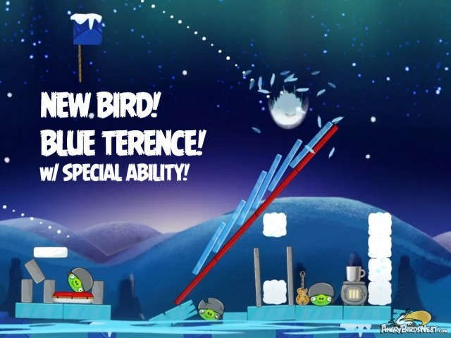 Angry Birds Seasons On Finn Ice New Bird Blue Terence Special Ability In Action