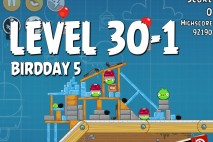 Angry Birds BirdDay 5 Level 30-1 Walkthrough