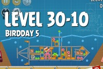 Angry Birds BirdDay 5 Level 30-10 Walkthrough