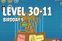 Angry Birds BirdDay 5 Level 30-11 Walkthrough