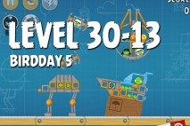 Angry Birds BirdDay 5 Level 30-13 Walkthrough