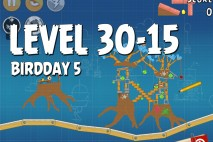 Angry Birds BirdDay 5 Level 30-15 Walkthrough