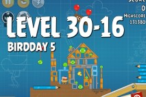 Angry Birds BirdDay 5 Level 30-16 Walkthrough