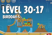 Angry Birds BirdDay 5 Level 30-17 Walkthrough