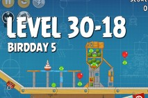 Angry Birds BirdDay 5 Level 30-18 Walkthrough
