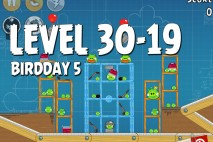 Angry Birds BirdDay 5 Level 30-19 Walkthrough