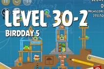 Angry Birds BirdDay 5 Level 30-2 Walkthrough