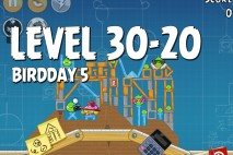Angry Birds BirdDay 5 Level 30-20 Walkthrough