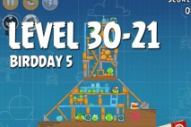 Angry Birds BirdDay 5 Level 30-21 Walkthrough