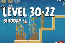 Angry Birds BirdDay 5 Level 30-22 Walkthrough