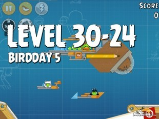 Angry Birds BirdDay 5 Level 30-24 Walkthrough