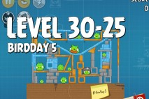 Angry Birds BirdDay 5 Level 30-25 Walkthrough