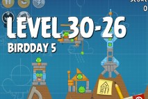 Angry Birds BirdDay 5 Level 30-26 Walkthrough