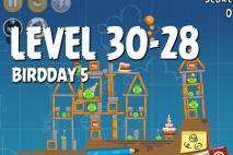 Angry Birds BirdDay 5 Level 30-28 Walkthrough