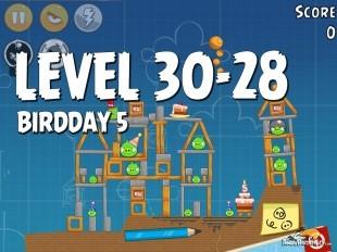Angry Birds BirdDay 5 Level 30-28 Walkthrough