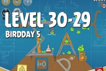 Angry Birds BirdDay 5 Level 30-29 Walkthrough