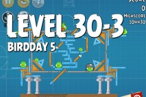 Angry Birds BirdDay 5 Level 30-3 Walkthrough