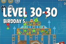 Angry Birds BirdDay 5 Level 30-30 Walkthrough