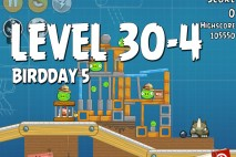 Angry Birds BirdDay 5 Level 30-4 Walkthrough