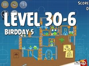 Angry Birds BirdDay 5 Level 30-6 Walkthrough