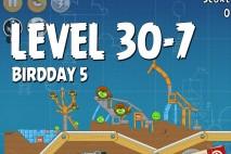 Angry Birds BirdDay 5 Level 30-7 Walkthrough