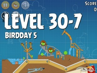 Angry Birds BirdDay 5 Level 30-7 Walkthrough
