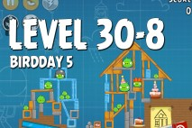 Angry Birds BirdDay 5 Level 30-8 Walkthrough