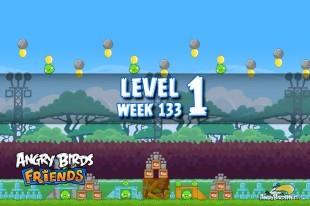 Angry Birds Friends TNT Tournament Level 1 Week 133 Walkthrough | December 1st 2014