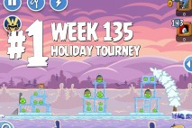 Angry Birds Friends Holiday Tournament Level 1 Week 135 Walkthrough | December 15th 2014