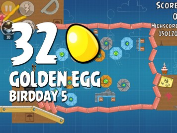 Angry Birds Golden Egg 32 Numbered