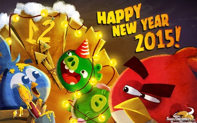 Angry Birds Happy New Year 2015 Year in Review