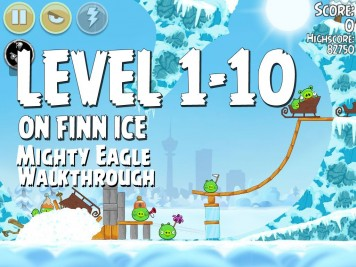 Angry Birds Seasons On Finn Ice 1-10 - Mighty Eagle