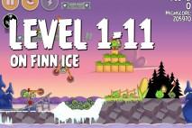 Angry Birds Seasons On Finn Ice Level 1-11 Walkthrough