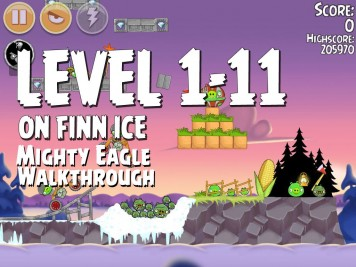 Angry Birds Seasons On Finn Ice 1-11 - Mighty Eagle