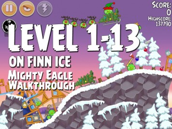 Angry Birds Seasons On Finn Ice 1-13 - Mighty Eagle